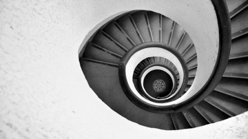 Photo of spiralling stairs